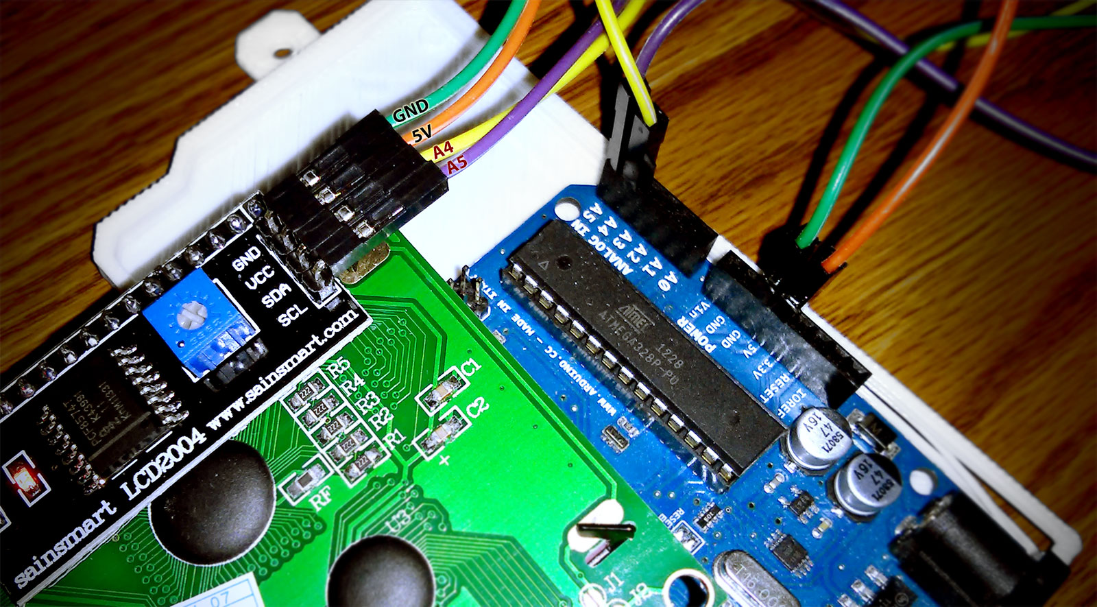 Arduino + Sainsmart LCD2004 Serial 16×4 LCD Screen – Steve Zazeski